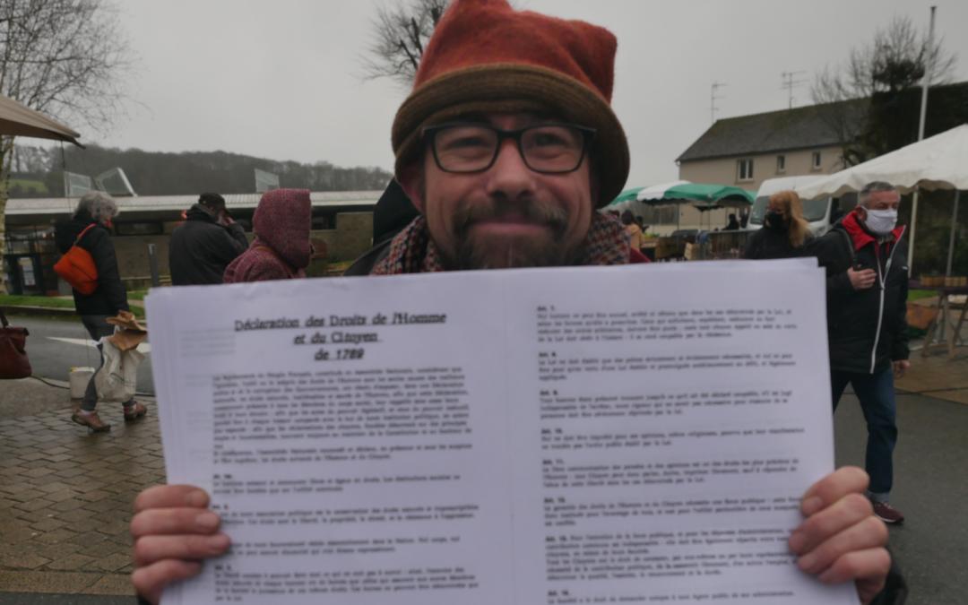 Stéphœn, Artiste Poète sur le Marché de Rostrenen